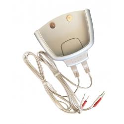 Kit 2 fils doubles pour connexion à 4 électrodes à broches + socle pour moteur EZ Tone Slim Pro V